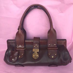 Vintage brown Chloe leather shoulder bag